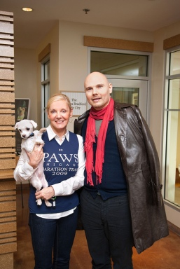 Billy Corgan visits PAWS Chicago
