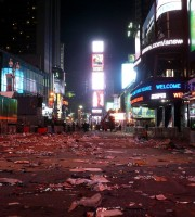 Times Square after New Year's Eve