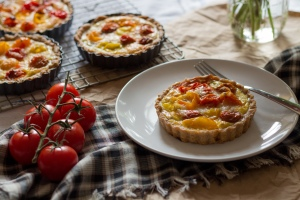 Tomato, Onion & Swiss Rye Tart